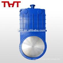 DN 1200 Flange type large diameter cast iron knife gate valve