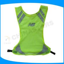 Chaleco running de malla ligera, chaleco de seguridad de alta visibilidad, engranaje reflectante para corredores