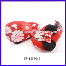 SR-14SS013 falt new fashion canvas baby shoes 2014 china cheap wholesale soft sole baby leather shoes animal baby girl shoes