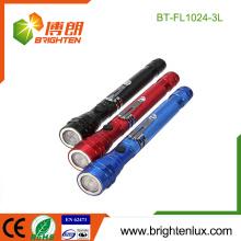 Vente en vrac en usine 4 * LR44 Bouton à commande cellulaire à base d'aluminium à base de magnétique à base de 3 lampe à LED télescopique avec outil de ramassage
