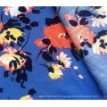 100% вискоза креповая модная ткань с цветочным принтом для пошива одежды