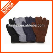 Fashion knit custom acrylic men gloves
