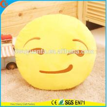 Hot Selling alta calidad novedad diseño amarillo emoji expresión facial almohada de felpa cojín de emoji