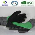 Schnittschutz-Sicherheitshandschuh mit sandigen Nitrilbeschichteten Schutzhandschuhen