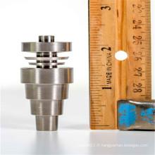 Clé de titane mâle / femelle 10mm / 14mm / 18mm pour fumer avec des domes réversibles (ES-TN-033)