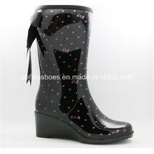 Fashion High Heels Women Rain Boots