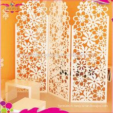 cheap folding screen wood plastic carving fancy room dividers