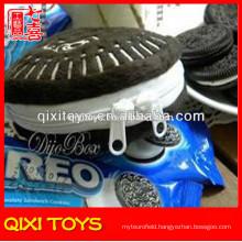 Popular design top quality oreo plush coin purse