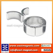 Gesinterte NdFeB Magnete für Getriebelose Motoren / Nickel beschichtete Bogenmagneten für Motor