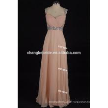 Fashion Pailletten Perlen Kleider Sweetheart Lange Chiffon Abendkleider