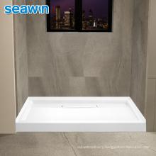 Seawin Modern Non Leak White Rectangle Shape Acrylic Shower Base Tray
