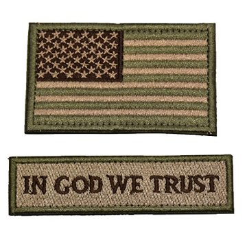 Toppe in velcro personalizzate Tactical Morale USA Flag Multitan