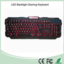 3 cores Novos teclados de jogos com LED retroiluminados com fio (KB-1901EL)