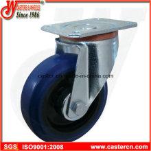 Elastischer Gummi-Schwenkrollen mit blauem Elastik-Gummi-Rad