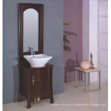 Mobília do banheiro da madeira maciça do assoalho (B-195)
