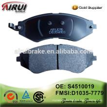 High Quality brake pad , brake pad importer OE: S4510019/D1035-7779