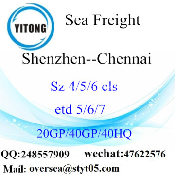 Shenzhen Port Sea Freight Shipping ke Chennai