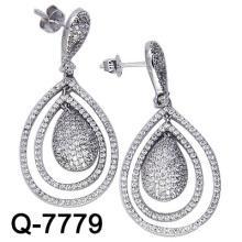 Los últimos estilos Pendientes 925 joyería de plata (Q-7779. JPG)