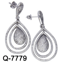 Boucles d'oreilles en forme de boucles d'oreille 925 (Q-7779. JPG)