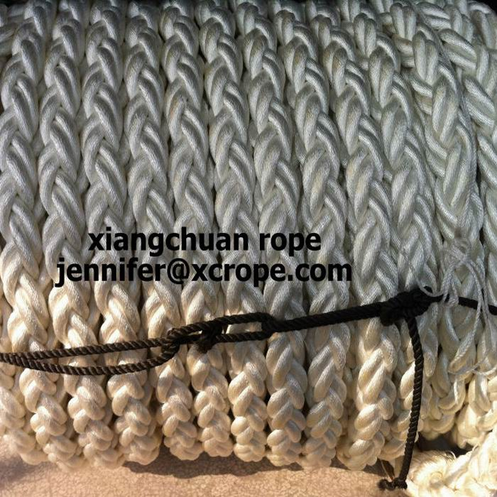dia75mm 8 strands polyester rope