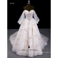 2017 neues Design Hochzeitskleid lange Ärmel Hochzeitskleid für die Braut