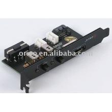 Placa de defletor ESATA de porta única com interruptores de energia 2pcs