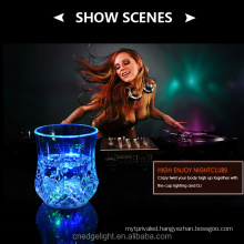 Led drinking cups RGB colourful plastic Shiny cups 0.2W snowflake plastic cups for night bar/restaurant
