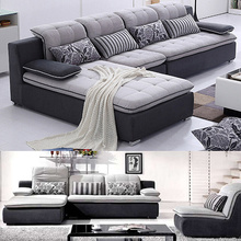 3 Pieces Upholstery Chaise Sectional Sofa Set