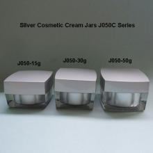 Silver Square Cream Jar J050C