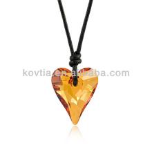 Vente en gros de pierres naturelles en forme de coeur en cristal pendentif