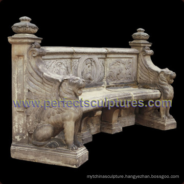 Stone Marble Antique Garden Chair for Garden Decoration (QTC066)
