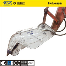 Excavator hydraulic pulverizer attachments use for demolition and recycling