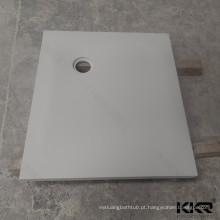 Tabuleiro de duche personalizado de superfície maciça 80x80