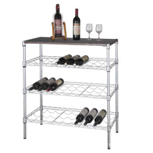 DIY moderno metal garrafa de vinho organizador rack, aprovação NSF