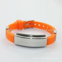 Wholesale cheap custom silicone bracelets with rubber bracelet