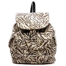 2015 Popular Zebra Canvas Designer Ladies Backpack (ZXS0037)