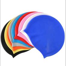 Custom logo silicone swim cap for adult/kids
