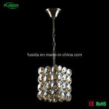 Современный белый круглый квадратный кристалл один свет подвесной светильник для украшения свадьбы