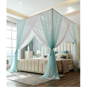 Lager Size Blue Bed Canopy