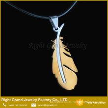 Joyería pendiente grande del collar del acero inoxidable del descuento