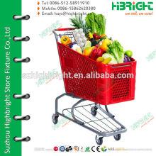 four wheels shopping trolley cart