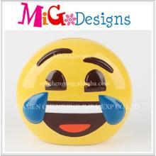 Keramik Handgemachte Geschenk Großhandel Lächeln Gesicht Schwein Bank