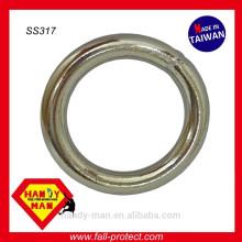 Bague ronde soudée à l'argon industriel en acier inoxydable