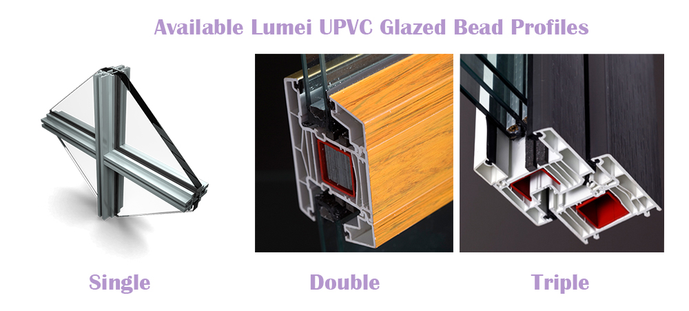 Glazed Type for Lumei UPVC Profiles
