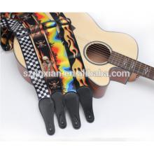 Correa de cuero de encargo de la correa de las correas de la guitarra