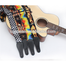Оптом кожаные ремни для гитар пользовательский шаблон гитарный ремень