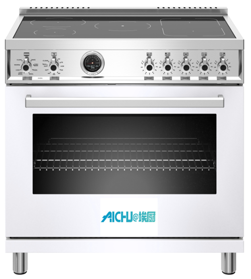36 inch Induction Range Electric Self-Clean Oven