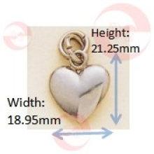 Mini tirador de cremallera del corazón (G8-183A)