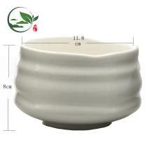 Milky White Große Keramik Matcha Bowl