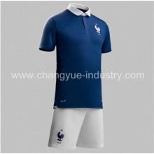 2014 nuevo diseño Francia mundial Copa fútbol jersey Tailandia calidad uniformes kits del fútbol